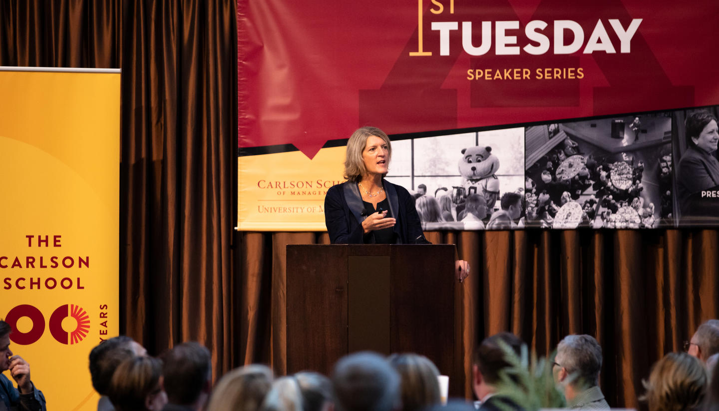 Land O'Lakes CEO Beth Ford speaks at Carlson School's 1st Tuesday Speaker Series