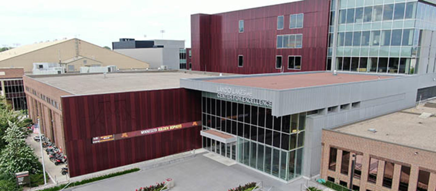 A photo of the front entryway of the Land O'Lakes Center for Excellence