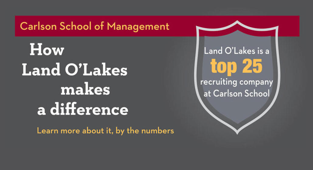 How Land O'Lakes makes a difference at the Carlson School of Management