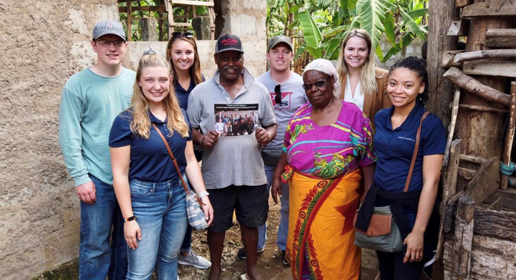 Lentsch with her team touring a smallholder family farm.